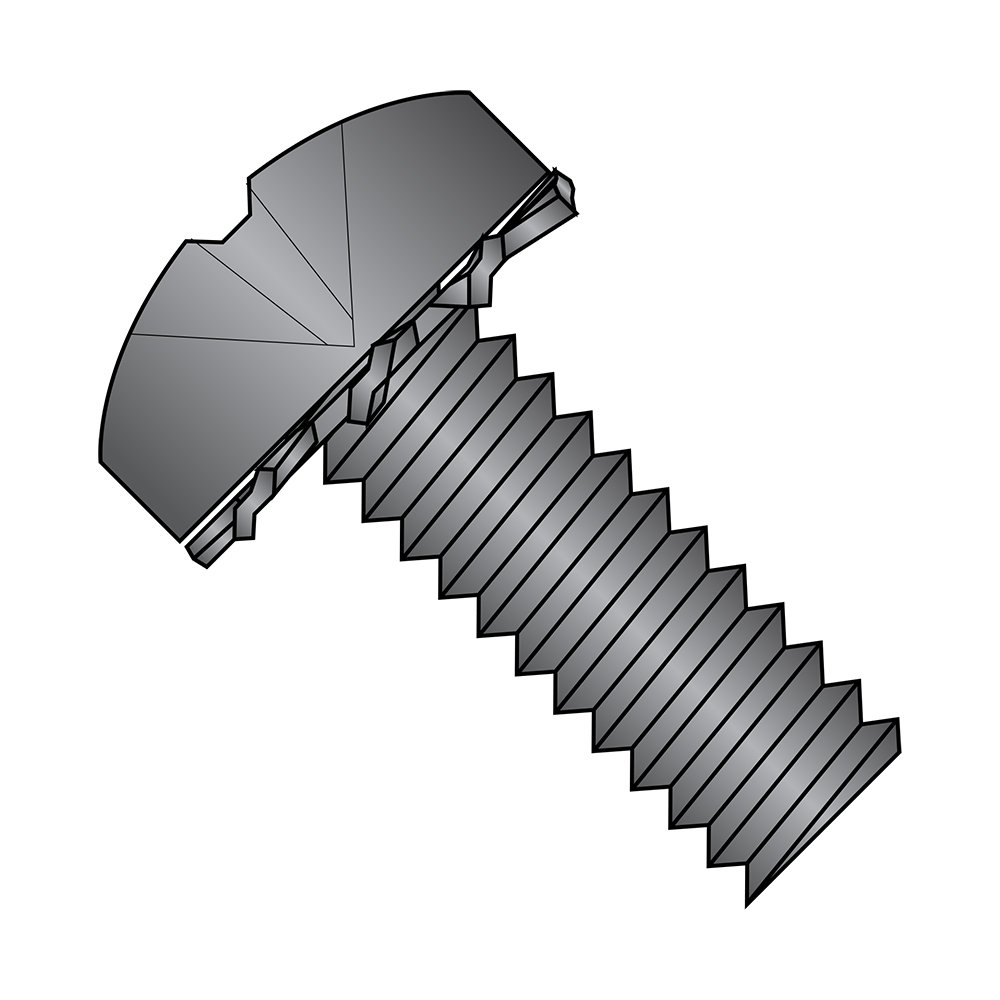 Black Zinc Plated Pack of 100 Phillips Drive 3//8 Length #10-24 Thread Size Pan Head Steel Thread Cutting Screw Type 23