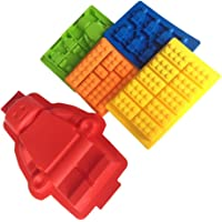 LYXY Building Brick Ice Cube Schalen, Silikon Form Silikon Kuchen oder Jelly Form & Ice Cube Tablett oder candy, Jelly & Schokolade Silikon Form baking - Set von 5
