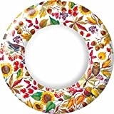 Ideal Home Range 8-Count Paper Plates, 10.5-Inch, Autunno Bellino