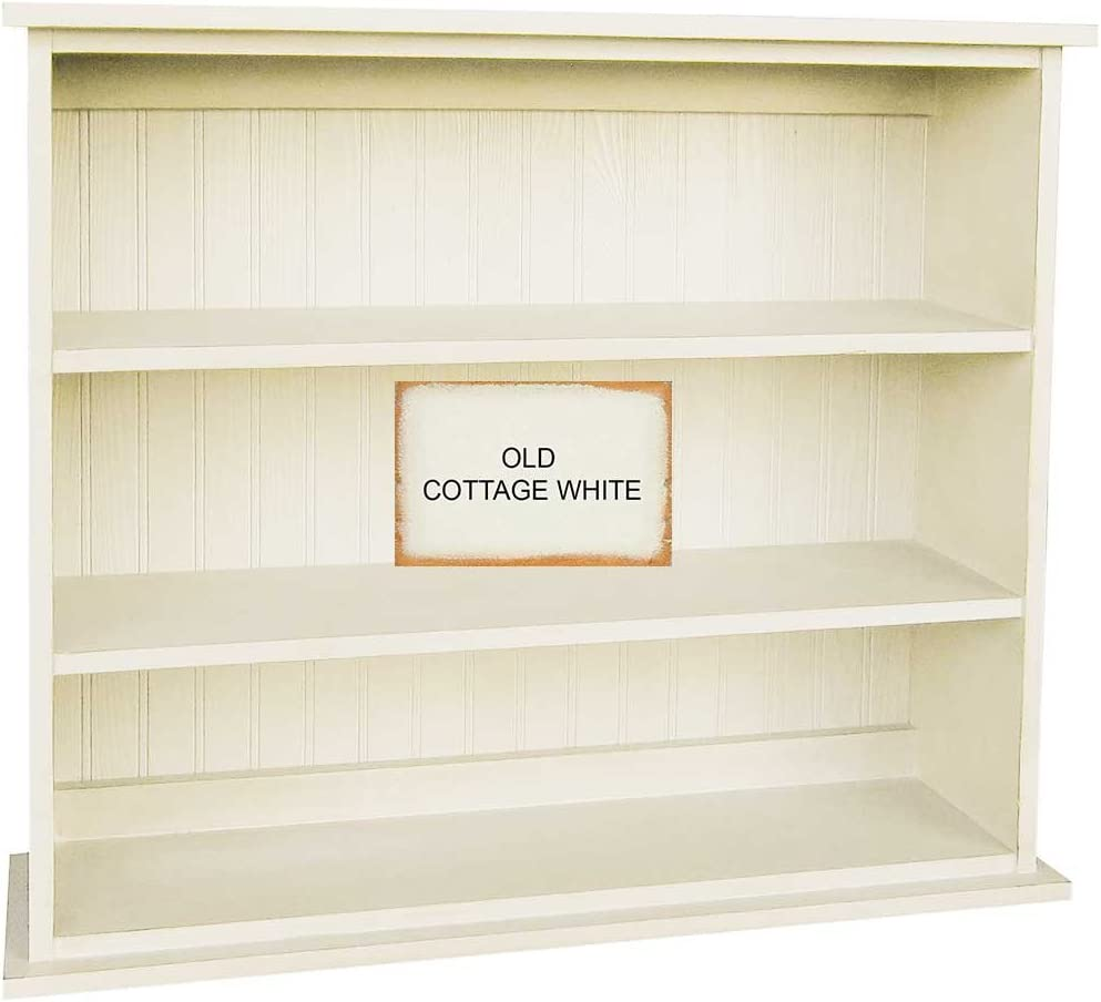 Sawdust City 91aSolid Wood Hall Bookcase, Old Cottage White