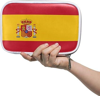 Estuche organizador de bolígrafos, diseño de la bandera de España: Amazon.es: Belleza