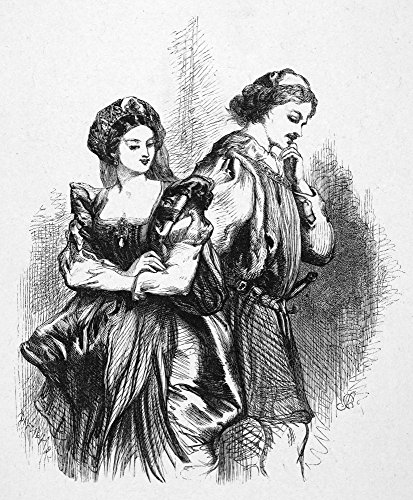 (Shakespeare Much Ado About Nothing Beatrice And Benedick (Act I Scene I) From William ShakespeareS Much Ado About Nothing Engraving 19Th Century Poster Print by (18 x 24) )