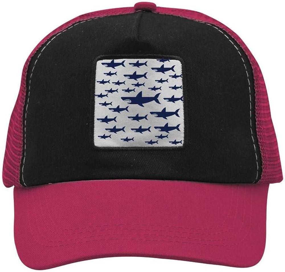 Ocean Shark Sea Fish Mesh Caps Adjustable Unisex Snapback Trucker Cap