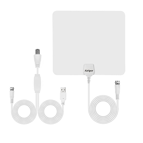 Digital Indoor TV Antenna, Ultra Thin HDTV Antenna with Detachable Amplifier Signal Booster and High