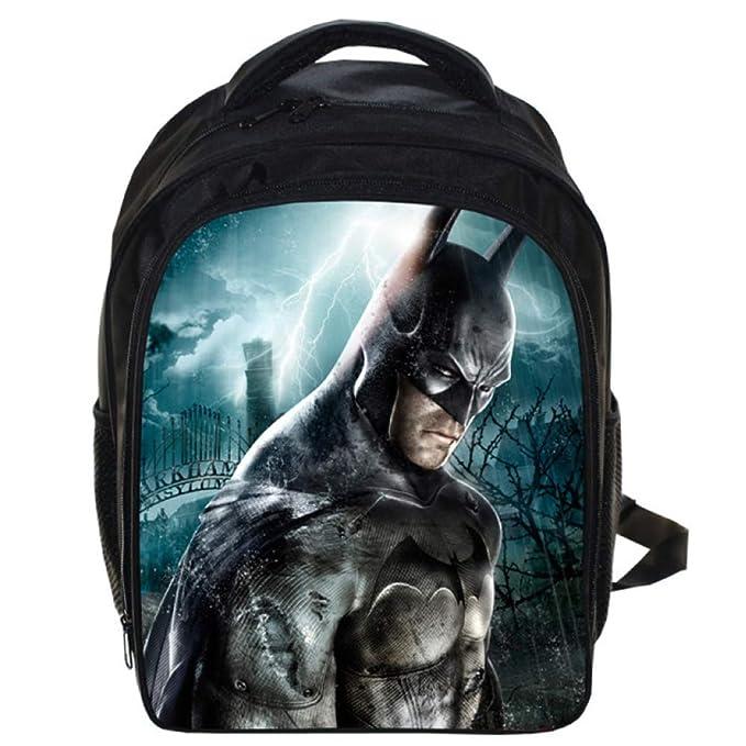 Batman Mochila Escolar Para Niños Adolescentes Ligeros Mochilas Para Niños Y Niñas Bolsas Escolares De 6-12 Años,Batman(1)-33 * 24 * 14.5cm: Amazon.es: Ropa ...