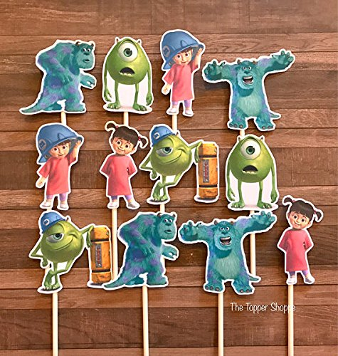 12 Cupcake Toppers MONSTERS INC