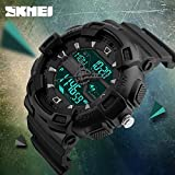 Casual SKMEI Watch Mens LED Digital Date Waterproof Sport Analog Military Watch