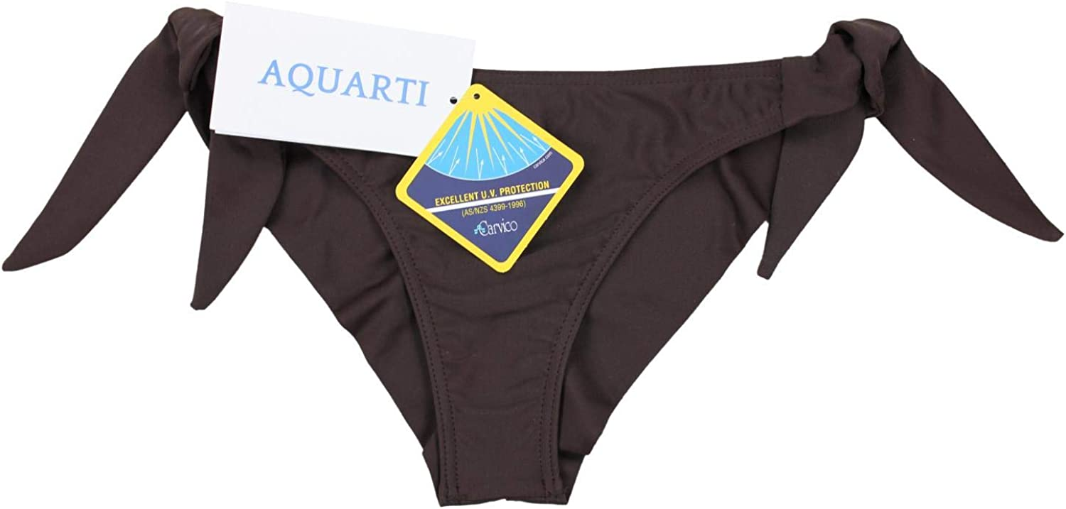 Aquarti Womens Bikini Bottoms Brazilian with Side Ties