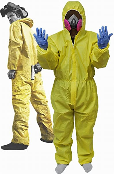 Breaking Bad Hazmat Lab Walter White Disfraz Infantil de Incluye el ...