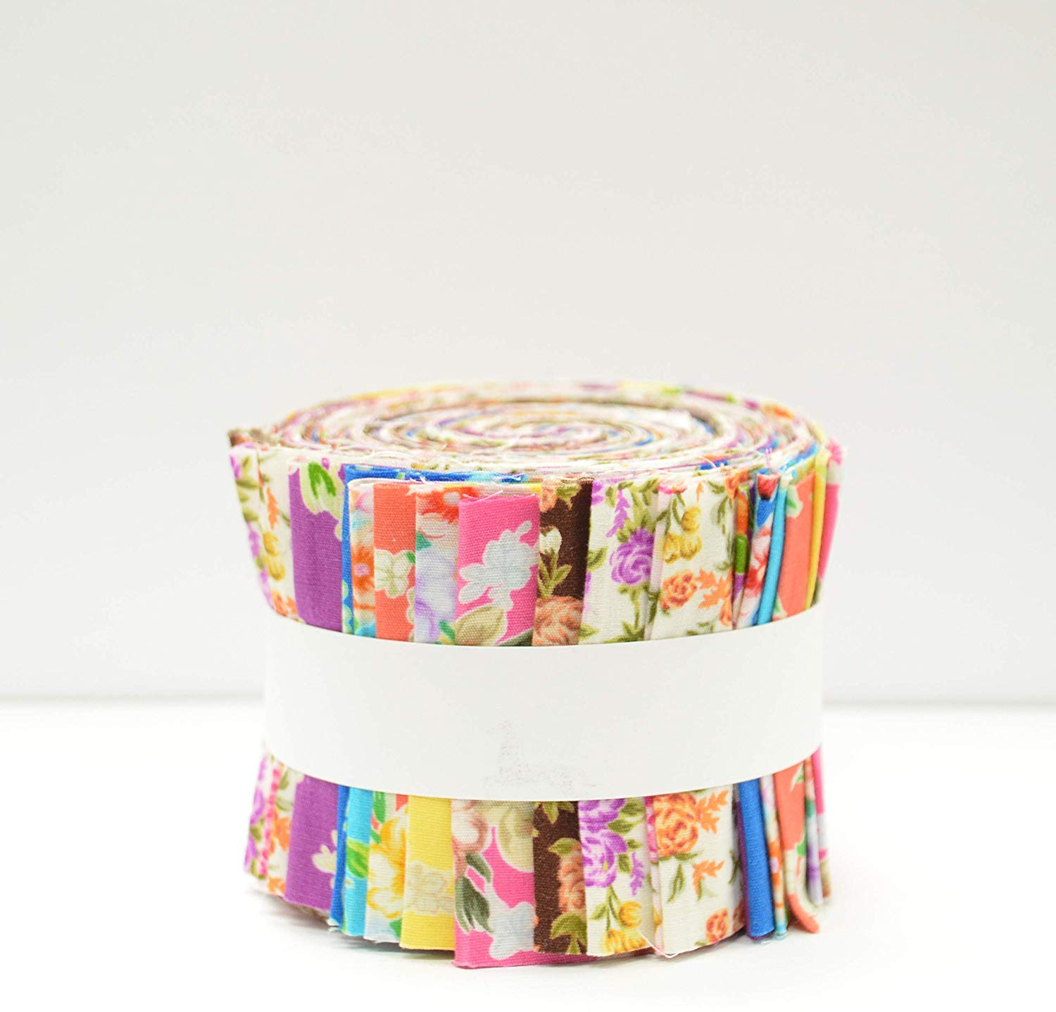 Kids Print Jelly Rolls Fabric for Quilting Polycotton Material Patchwork 2.5 W x 45 L 20 Strips Bundle Craft