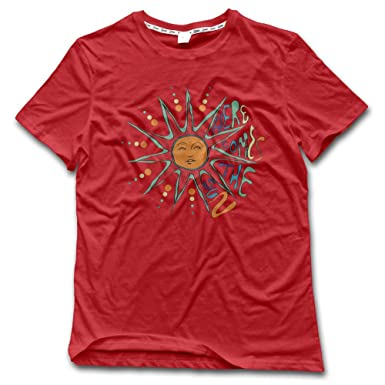 476c2cd25e54 Amazon.com  YUYU Men s H-here Comes The Sun 2 Casual Style Walk Red T-Shirt  Short Sleeve  Clothing