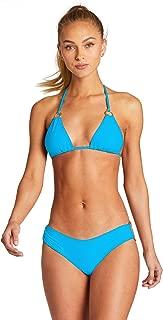 product image for Vitamin A Women's Cyan Ecorib Cosmos Textured Sliding Triangle Bikini Top