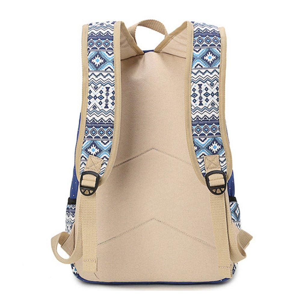 Abshoo Canvas Dot Backpack Cute Lightweight Teen Girls Backpacks ...