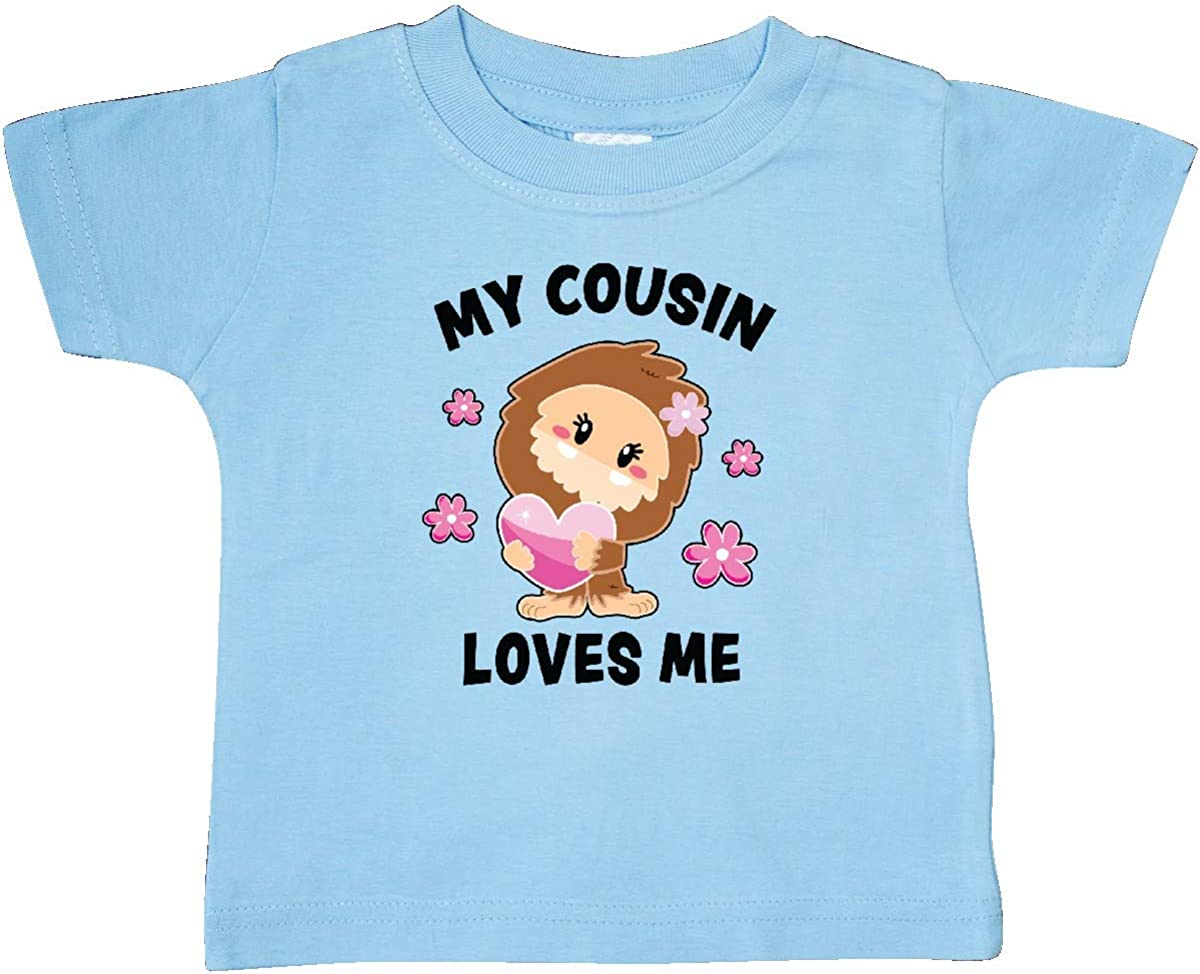 inktastic My Cousin Loves Me with Bigfoot Baby T-Shirt