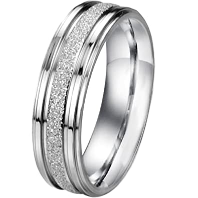 women size 5 men womens classic stainless steel love promise ring valentine couples wedding - Wedding Rings For Men And Women