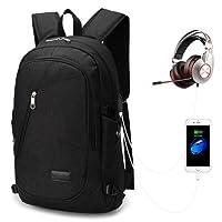 Mochila Antirrobo Impermeable, 15.6 Pulgadas PortáTil Ordenador Multiusos Daypacks para Hombre, Mujer, Negocio, Estudiante, Laptop Backpack con Puerto De Carga USB