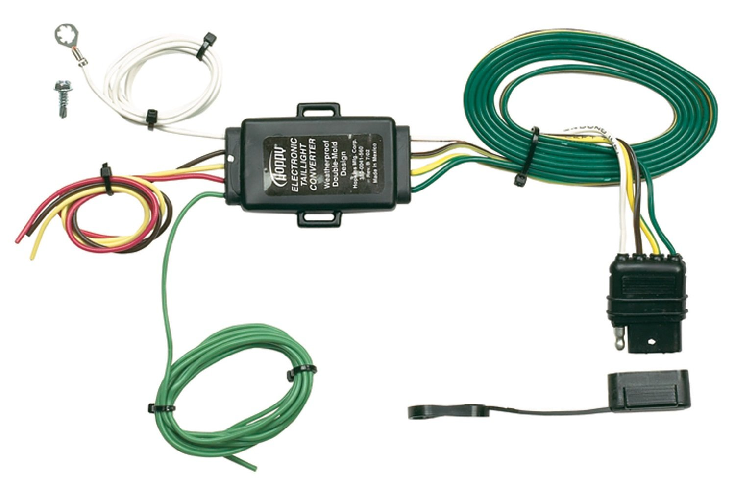61WaHisQCLL._SL1500_ amazon com hopkins 48925 tail light converter with 4 wire flat wiring diagram for hopkins trailer plug at gsmx.co