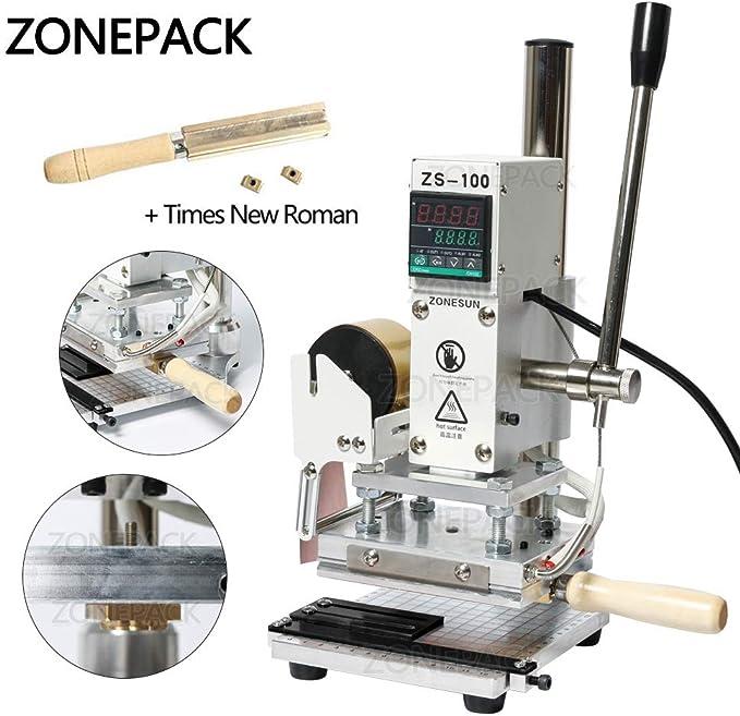 ZONEPACK Máquina de repujado digital con estampado de letra ...
