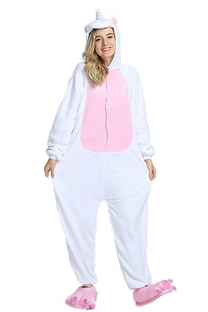 Kenmont Unisexo Adulto Pijama Traje Cosplay Animal Pyjamas Unicornio (S(148-160CM)
