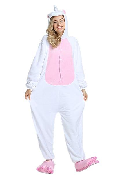 VineCrown Unicornio Pijama Animal Disfraces Traje Adultos Ropa de dormir Novedad Pijamas de una pieza Cosplay Carnaval Navidad Fiesta