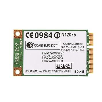 Mugast WiFi Adaptador PCI Express, 300 Mbps, 2.4GHz + 5GHz, 802.11A / G/N, Tarjeta de Red WiFi para Computadora de Escritorio con Ranura PCI-E