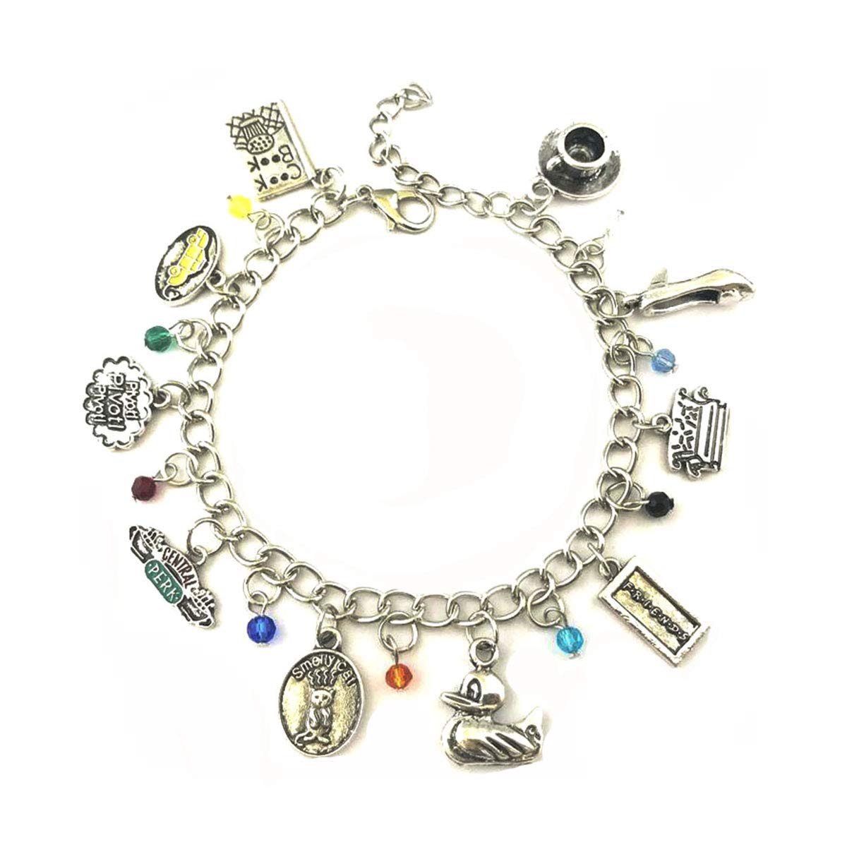 Blingsoul TV Show Charm Bracelet - Friends Merchandise TV Show Costume Jewelry Gifts for Women by Blingsoul