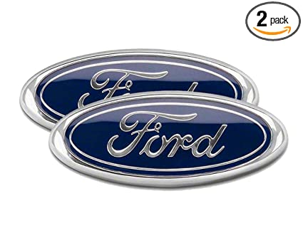 Blue Ford   F Front Grille Tailgate Emblem Oval X