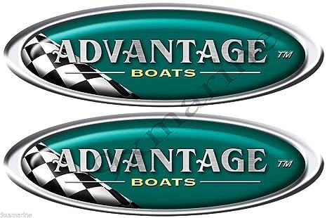Amazon com: Advantage Boats Oval Vintage Decals/Stickers