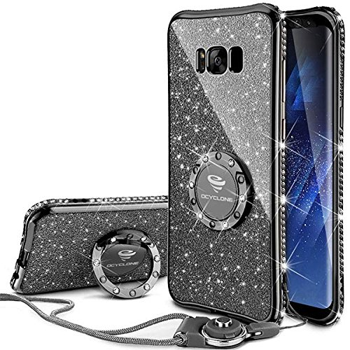 the best attitude 55abd 38520 OCYCLONE Galaxy S8 Plus Case, Glitter Cute Phone Case for Women Girls with  Kickstand, Bling Diamond Rhinestone Bumper with Ring Stand Compatible with  ...