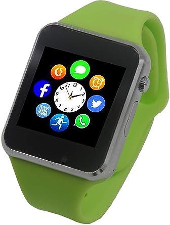 Funntech Smart Watch for Kids with Pedometer Bluetooth Unlocked 2G GSM Phone Call 1.54 Inch Touchscreen Camera, Green
