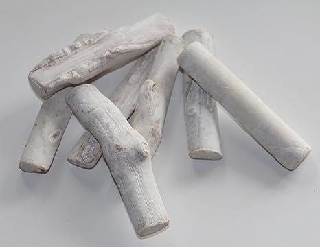 28 PZ Driftwood treib legno bianco pezzi di legno shabby chic fai da ...