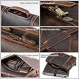 Tiding Men's 15.6 inch Vintage Leather Messenger
