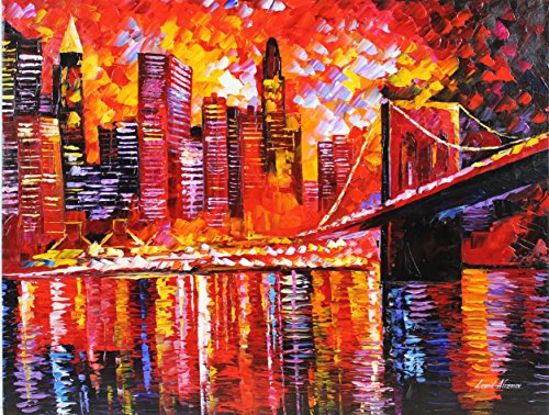 """""""NEW YORK NEW YORK"""" is the ONE-OF-A-KIND, ORIGINAL hand painted oil painting on Canvas by Leonid AFREMOV"""