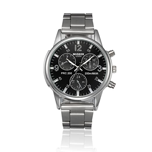 Reloj de pulsera de cuarzo analógico de acero inoxidable Crystal Cebbay  Clearance Fashion Man Women  Amazon.es  Relojes 4e85e959f127