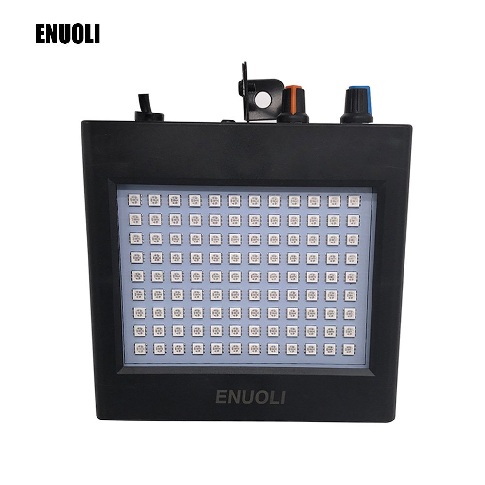 ENUOLI Ultra Bright White LED Strobe Lights 25W 108 LEDs Super Bright Mixed Flash Stage Lighting with Manual & Sound Activated Mode & Adjustable Flash Speed Control for Bar Xmas Wedding Club by ENUOLI