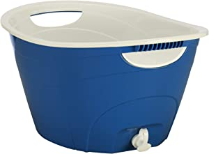 CreativeWare, Royal Blue Double Walled Party Tub With Drain Plug 4.375 Gl, 1