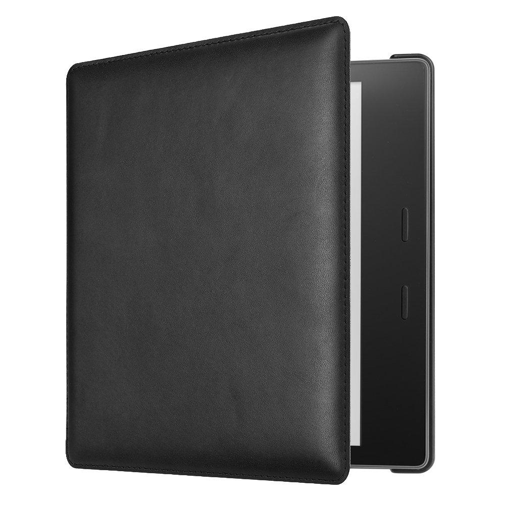 CaseBot Leather Case for Kindle Oasis (9th Gen, 2017 Release) - Black