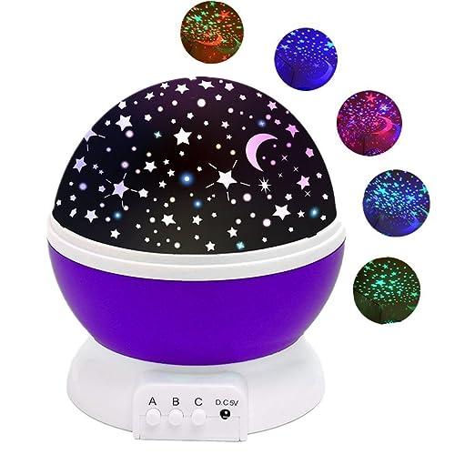 229 opinioni per Lampada Stelle Luna,SOLMORE Lampada di Illuminazione Notturna LED cielo stellato
