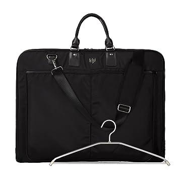 BAGSMART Kleidersack Anzugtasche Anzugsack mit Kleiderbügel Business Reisen Schwarz