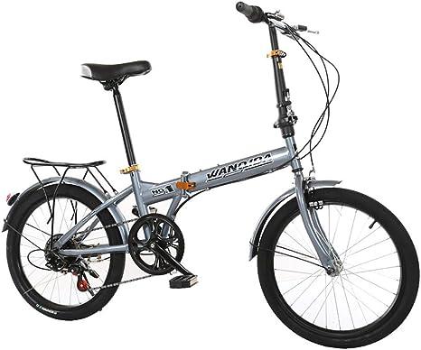 TZYY Cambio De 7 Velocidades Bicicleta Plegable Urbana,Mini Compacto Bike Plegables 20in,Adulto Bicicleta Plegable Urban Commuter con Back Rack A 20in: Amazon.es: Deportes y aire libre