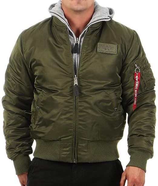 9529b6b21c1 Alpha Industries MA-1 D-Tec - Hooded Flight Jacket - Bomber Jacket  Amazon. co.uk  Clothing