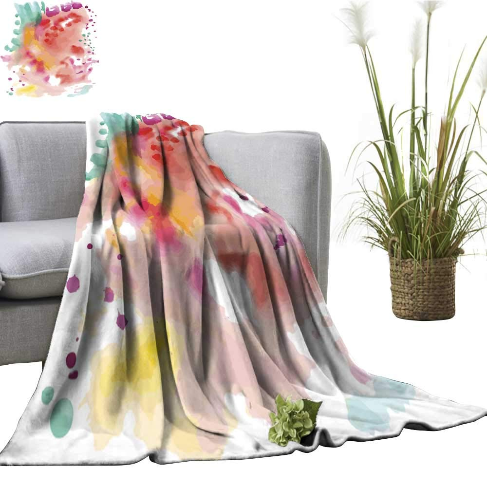 color07 51\ clayee Super Soft BlanketsAbstract Fancy Watercolor Background Sofa Chair 51  Wx60 L