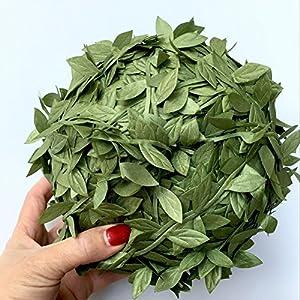 FYYDNZA Simulation Leaf Cane 200 M Large Leaf Rattan Diy Weaving Garland Accessory Rattan Leaf Decorative Leaf 86