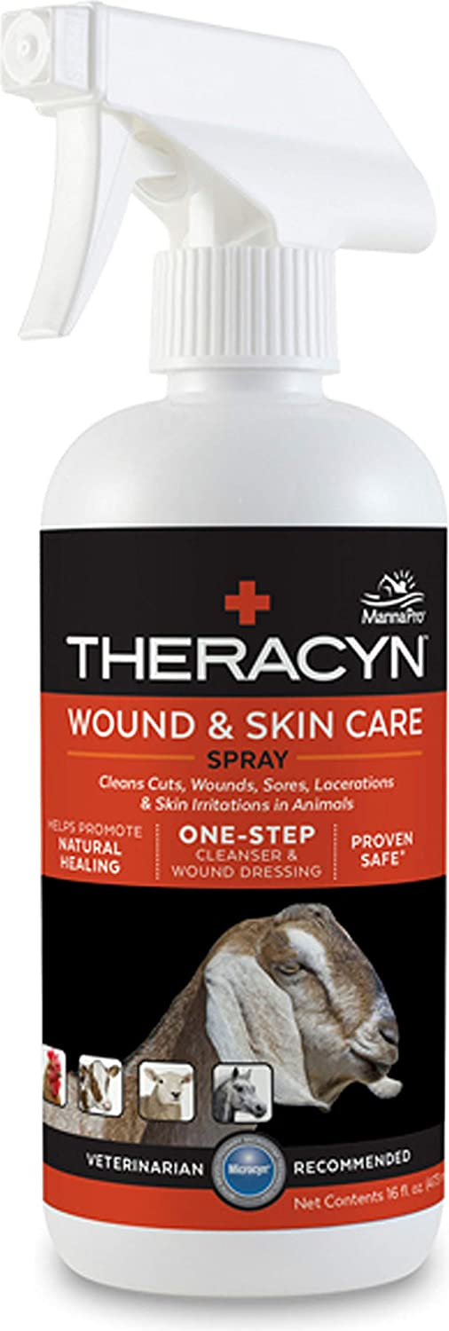 Manna Pro-equine-Theracyn Wound & Skin Care Spray- Livestock 16 Oz