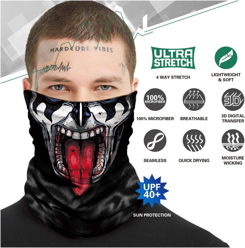 Masque 3D Anti-poussi/ère la p/êche la Moto TEFITI Cagoule Multifonction pour Homme Anti-UV la Chasse la Course Anti-Vent pour Le Camping
