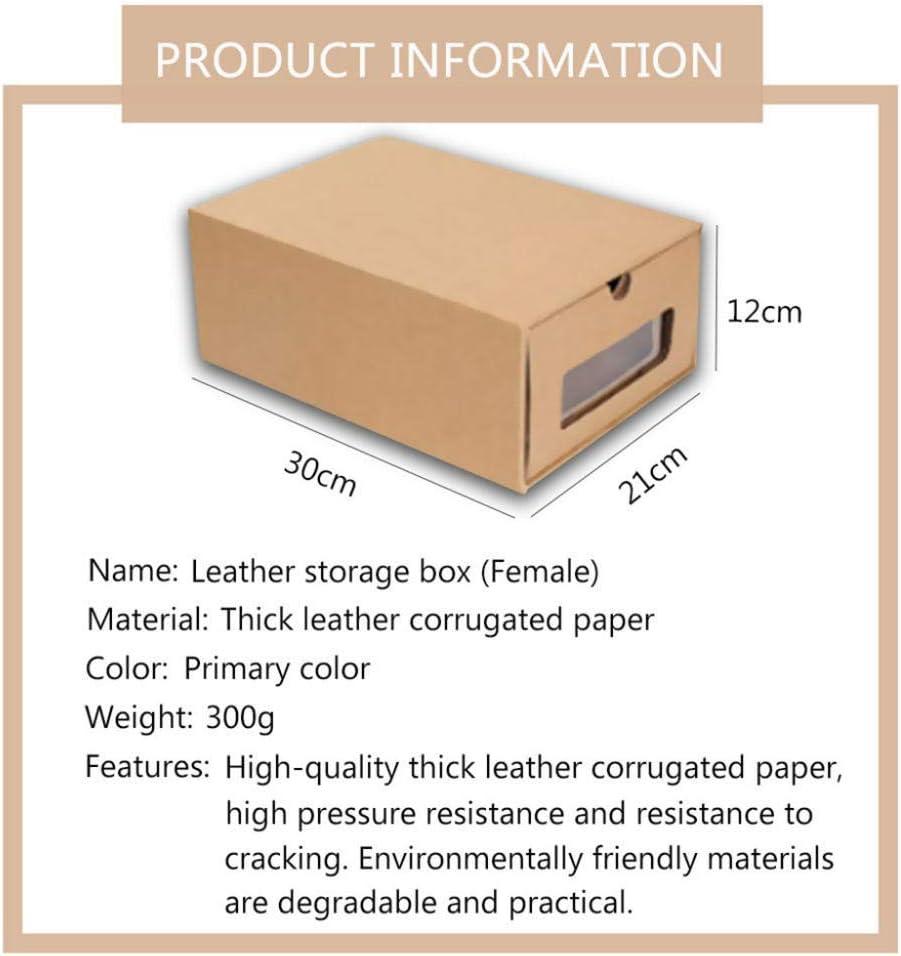 N/X cajón de cartón Transparente Caja de Zapatos receptáculo economía de Espacio Organizador de Almacenamiento Caja contenedor3pcs-_Zapatos de Mujer