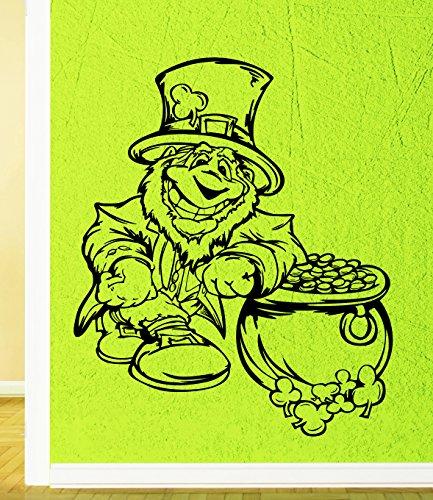 - Wall Stickers Vinyl Decal Leprechaun Ireland Celtic Fantasy Irish Pub (ig1875)