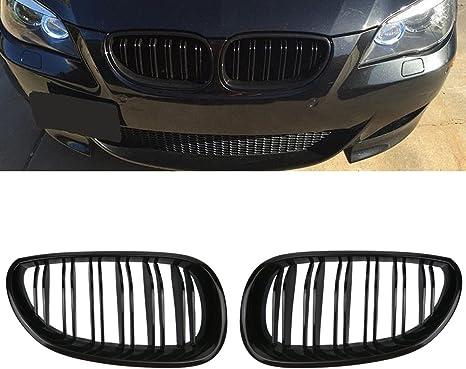 Griglia RETE reni per griglia Set Set per BMW e60 e61 BJ 03-07 Cromo//Cromo//Nero