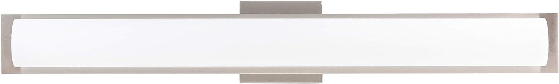 Portico 30 inch Integrated LED Bathroom Vanity Lights Brushed Nickel Bathroom Light LL-SC86BN-30-BN