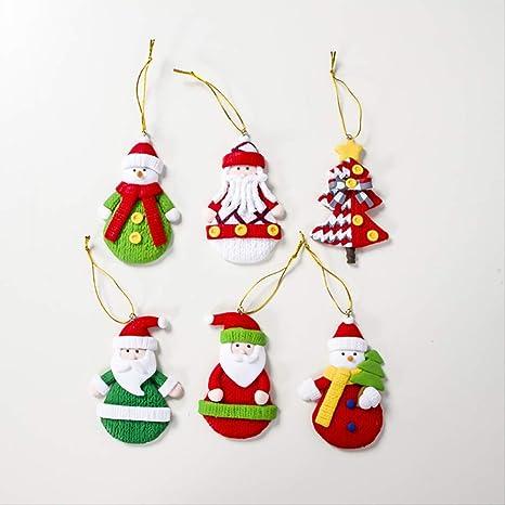 Zgptx Figuras Decorativas De Arcilla Suave De Colores Para Decoración De árbol De Navidad Home Kitchen